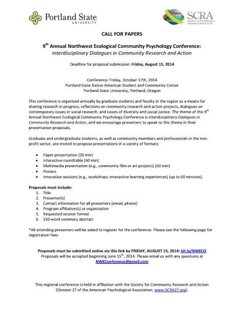NW Eco-Community Psychology Conference Call for Papers_5-20-14_Page_1