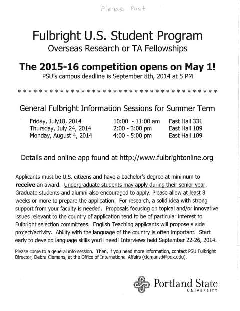 Fulbright info