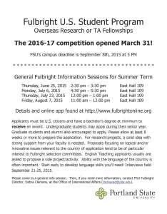 Fulbright Flyer Summer 2015