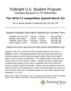 Fulbright Flyer Summer 2015