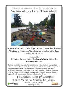 June 4 Bear Creek Presentation at PSU
