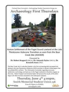 June 4 Bear Creek Presentation at PSU